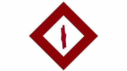"stylized image rotating symbol ""Red Crystal"""