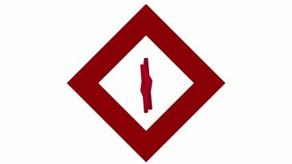 "stylized image rotating symbol ""Red Crystal"""