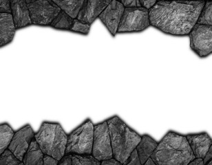 stone wall with hole for background