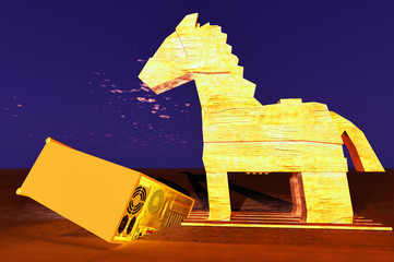 Trojan horse and computer