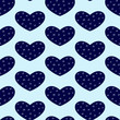 Background with winter hearts