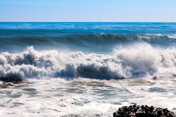 sea wave at  Mediterranean