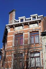 immeuble en briques. Bruxelles