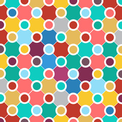 Vector abstract geometric background with circles