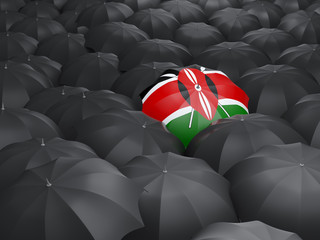 Umbrella with flag of kenya