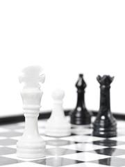 Chessmen on chessboard