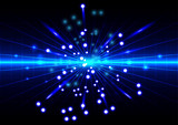 Fototapety abstract background with spread blue light rays