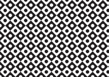vector trapezoid with circle pattern  black and white color poster