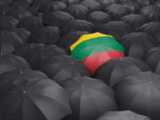 Umbrella with flag of lithuania