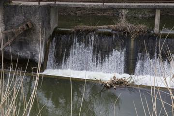 water overflow flood in lake of ioannina