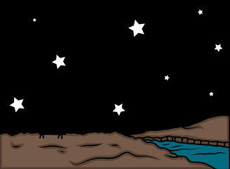Stars at Night Background