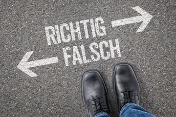 Entscheidung an der Kreuzung - Richtig oder Falsch