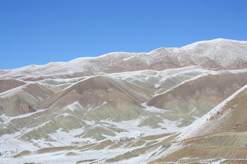 sommets désertiques d'Iran