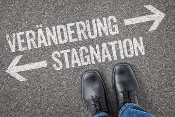 Entscheidung an der Kreuzung - Veränderung oder Stagnation