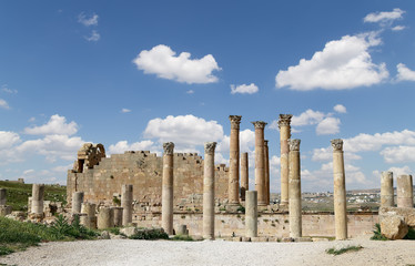Roman Columns in the Jordanian city of Jerash