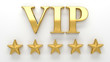 Leinwanddruck Bild - VIP - Very important person - gold 3D render on the wall backgro