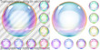 Zdjęcia na płótnie, fototapety, obrazy : Set of multicolored transparent and opaque soap bubbles