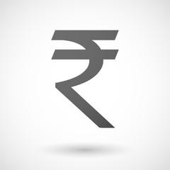 Grey rupee icon