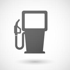 Grey gas pump icon