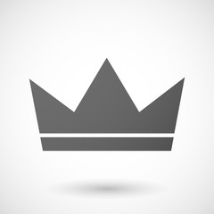Grey crown icon