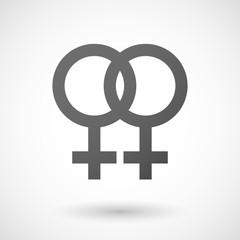Grey lesbian icon