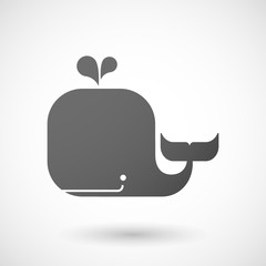 Grey whale icon