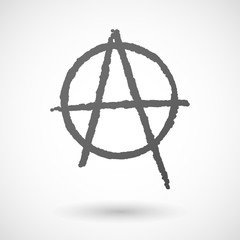 Grey anarchy icon