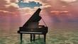 piano sur l'océan - 81335548
