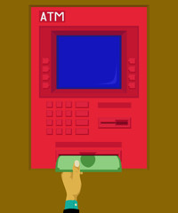 Withdraw money at atm
