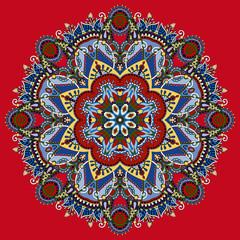 round ornamental geometric doily pattern