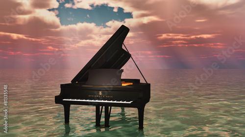 piano sur l'océan