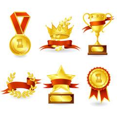 Trophy and prize emblem