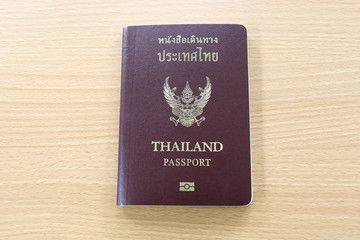 Thai passport.