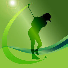 Vector silhouettes of golf.
