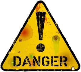 danger sign, warning sign, vector illustration