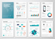Infographic corporate brochures for business data visualization - 81337709