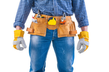 ready too work construction concept isolated on white background