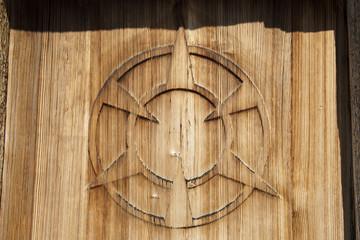 Tür der Kapelle auf der Alp Klisterli, Melchtal, OW