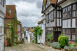 Leinwanddruck Bild - Mermaid Street, in the English town of Rye