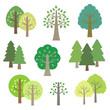 木の素材セット / vector eps10 - 81338961