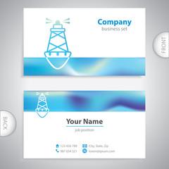 business card - Sea buoys - marine buoy - maritime symbols