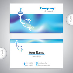 business card - fishing lures - nautical symbol