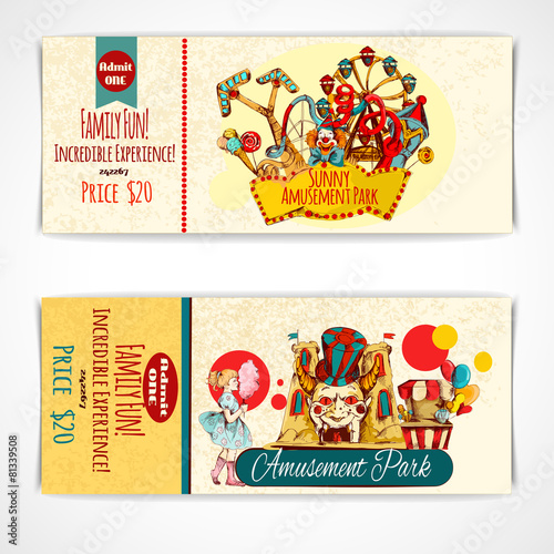 Amusement Park Tickets - 81339508