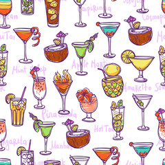 Cocktail Seamless Pattern