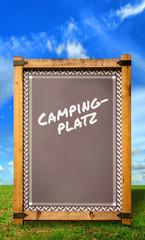 Strassenschild 34 - Campingplatz
