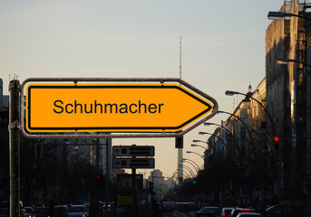 Strassenschild 37 - Schuhmacher