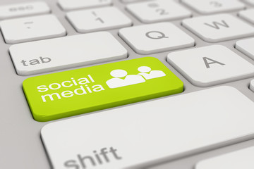 keyboard - social media - green