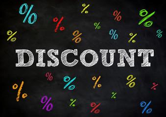 Discount - chalkboard concept