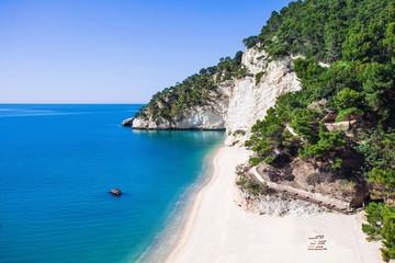 Wild beach in the Gargano (Baia delle Zagare beach), Italy