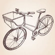 Hand drawn vintage/retro bicycle. Vector - 81341393